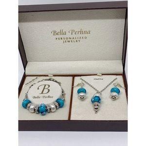 Bella Perlina Necklace Bracelet Earrings NIB
